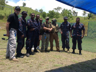 Laurence Aviation and Security Group (LA+SG) provided training to the Federal Police in Papua New Guinea in 2017. Photo courtesy LA+SG